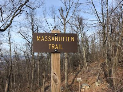 Massanutten Trailhead sign - Woodstock Tower