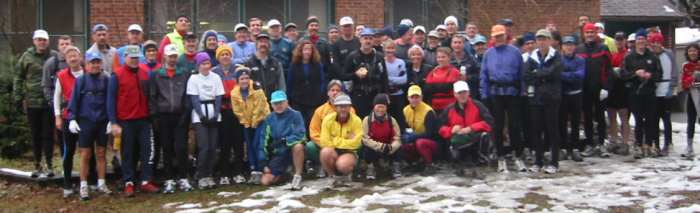 Group shot before the 2002 Fat Taffy Kiss 50 km