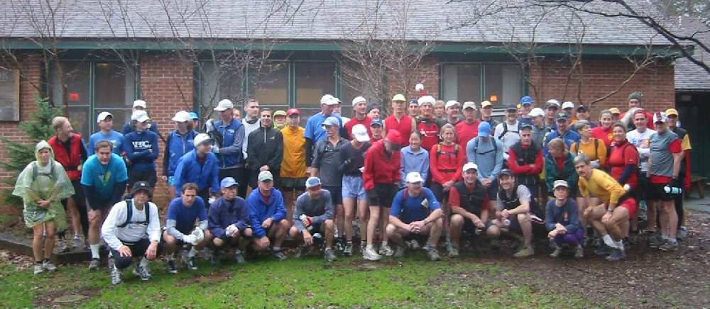 Group shot before the start of the 2004 Ponga Craka 50 km