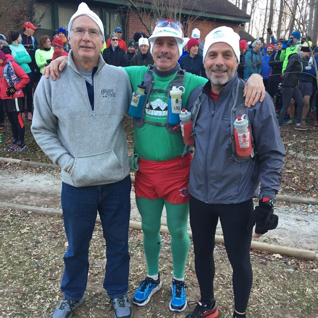 """Anstr Davidson, Joe """"President for Now"""" Clapper, and Steve Boutillier at the start of the 2016 MGM"""