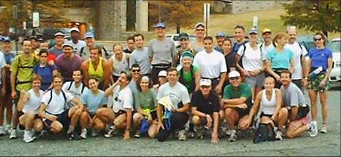 Group shot at the start of the 2001 Potomac Heritage