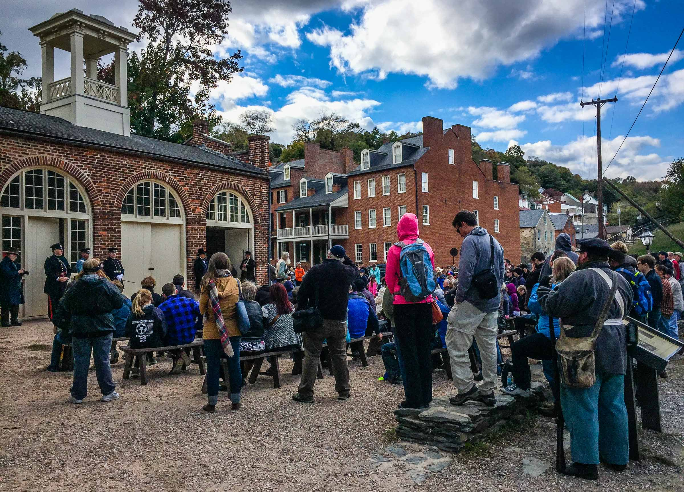 Tourists in Harpers Ferry