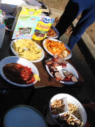The aid station spread