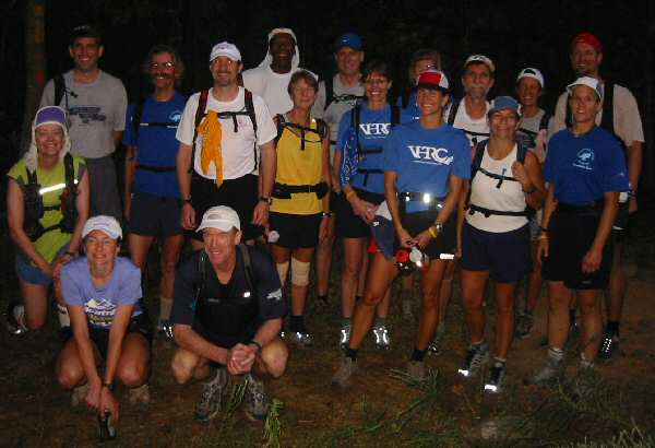 Ring participants before the 2004 start at the Signal Knob Trailhead
