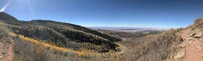 Single track up in the La Sal Mountains on Day 3