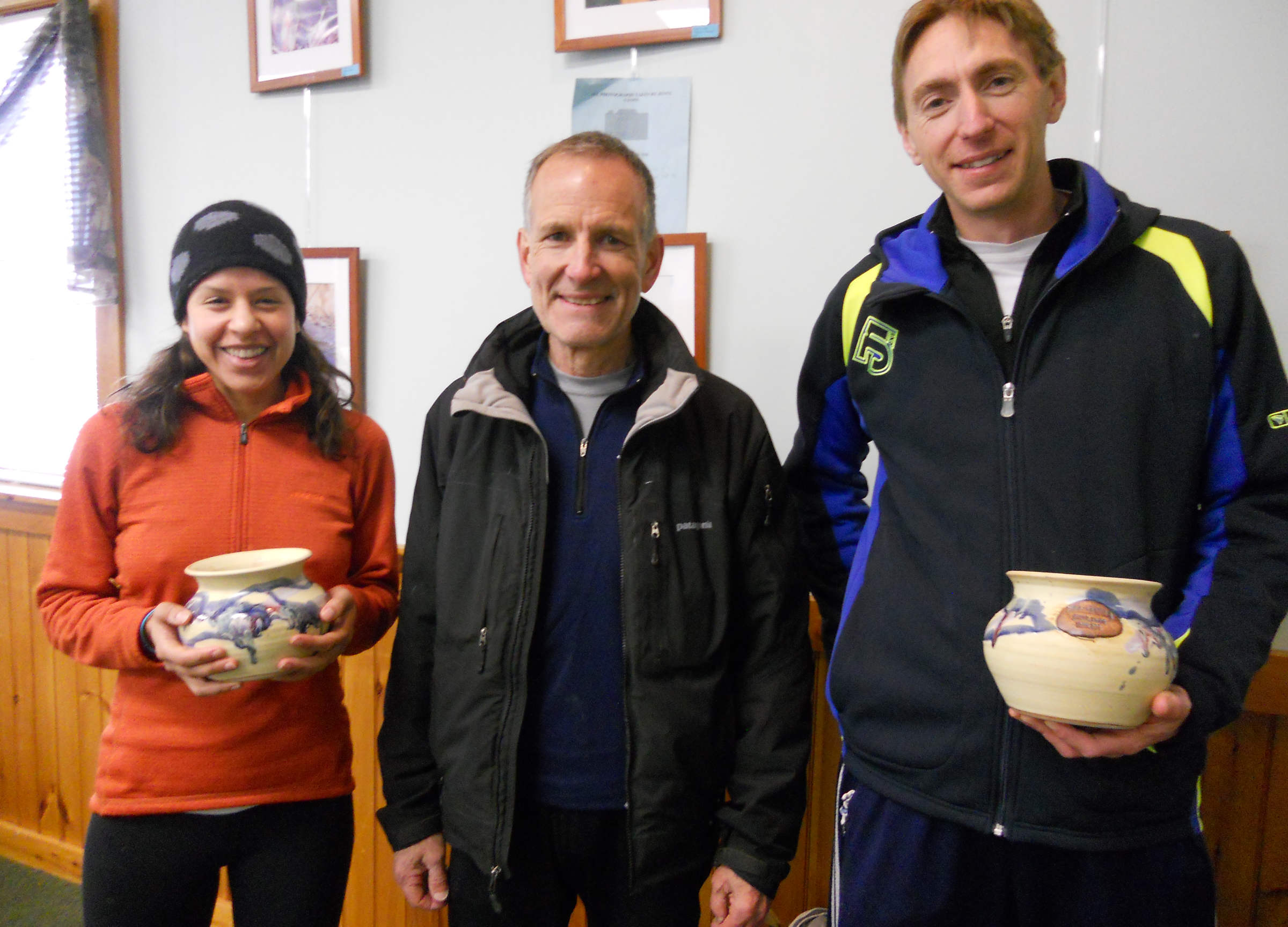 RD Alan Gowen with winners Gaby Gorman and Olivier Leblond