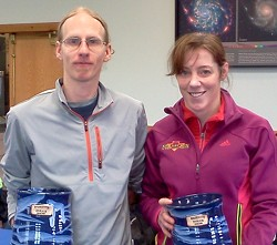 Winners and record breakers Michael Daigeaun and Kristin Bremer