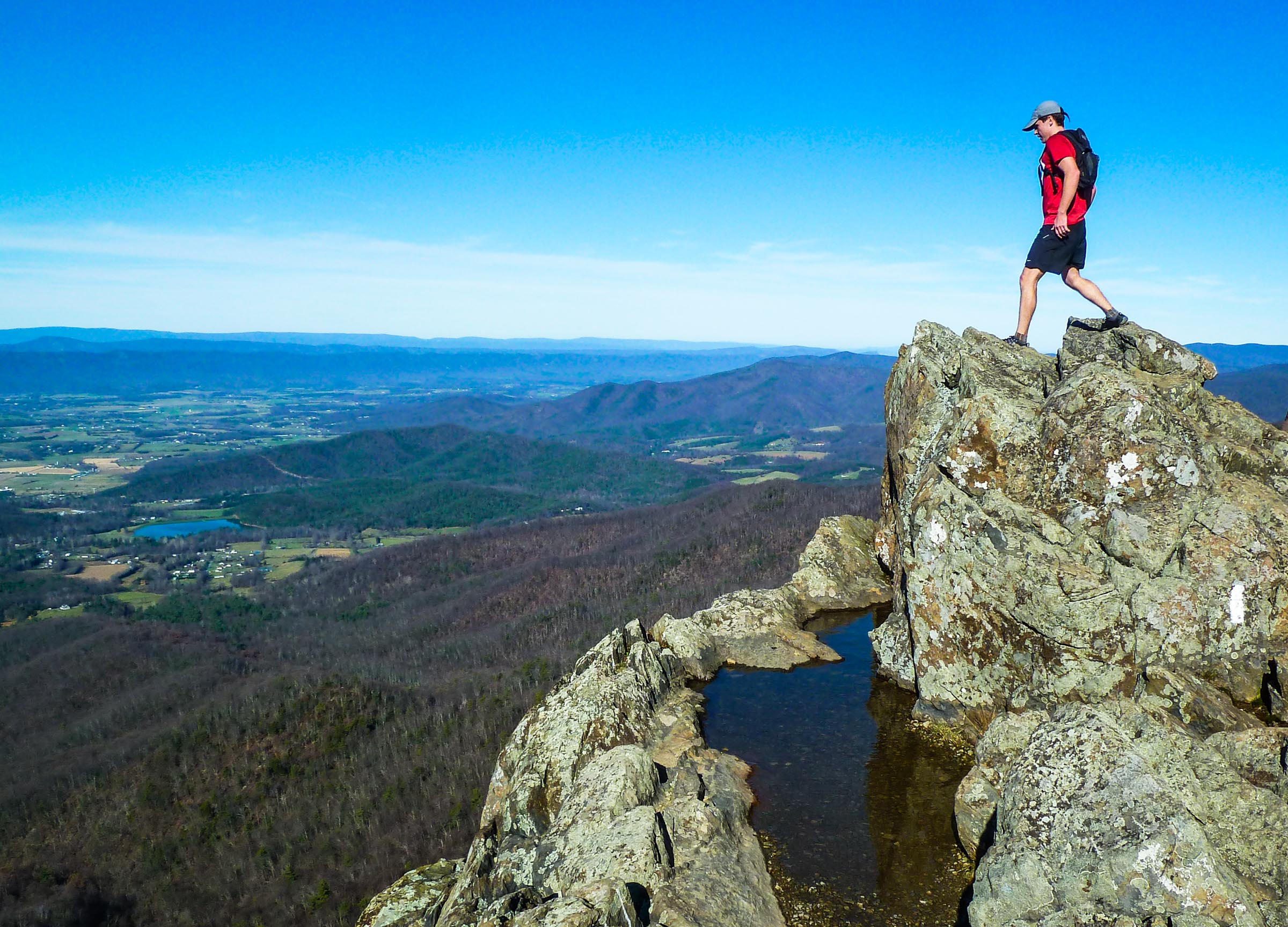 On top of the world on Little Stony Man during the 2011 Vicki's Death March