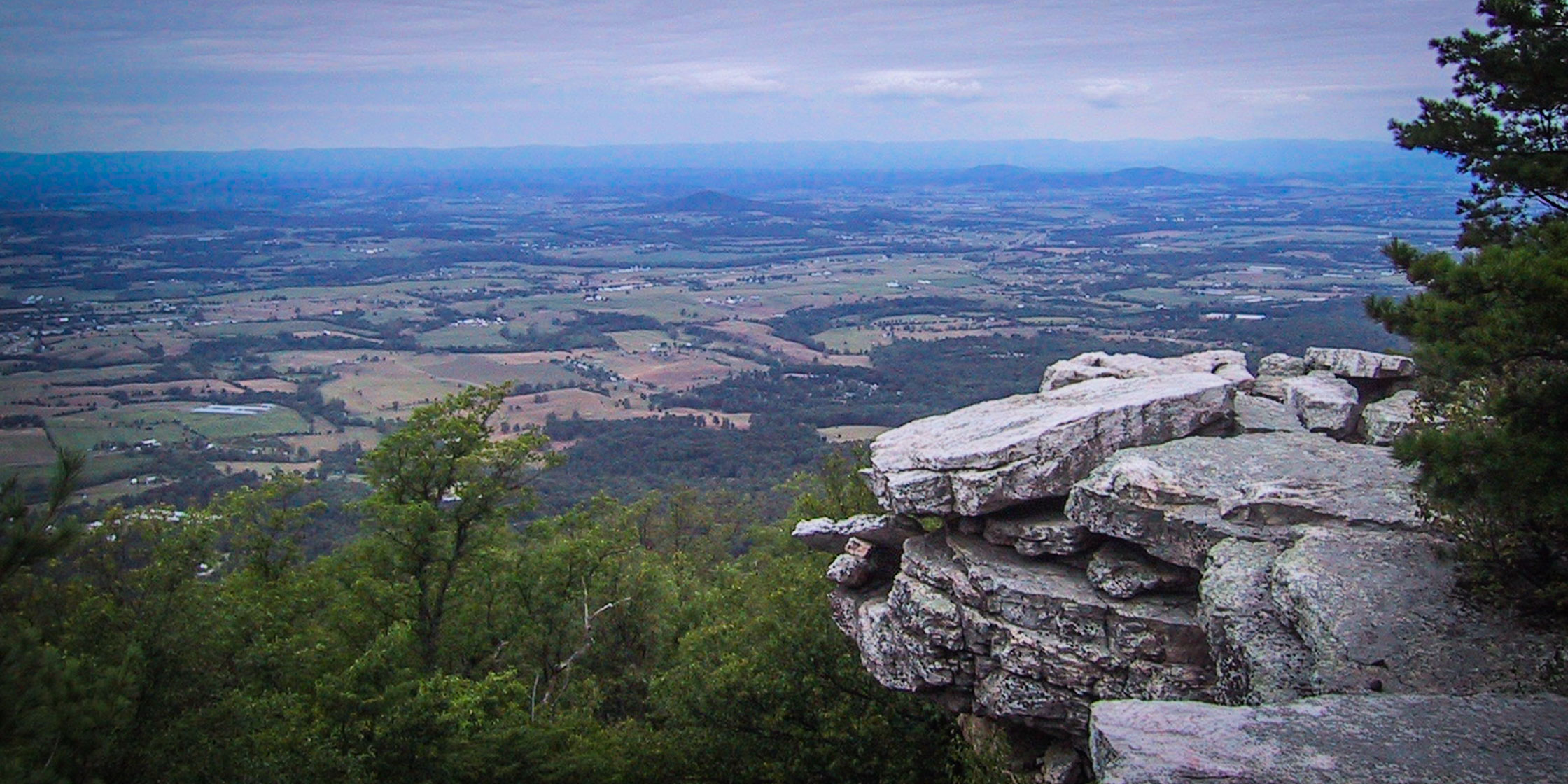 The view of the Shenandoah Valley from Bird Knob