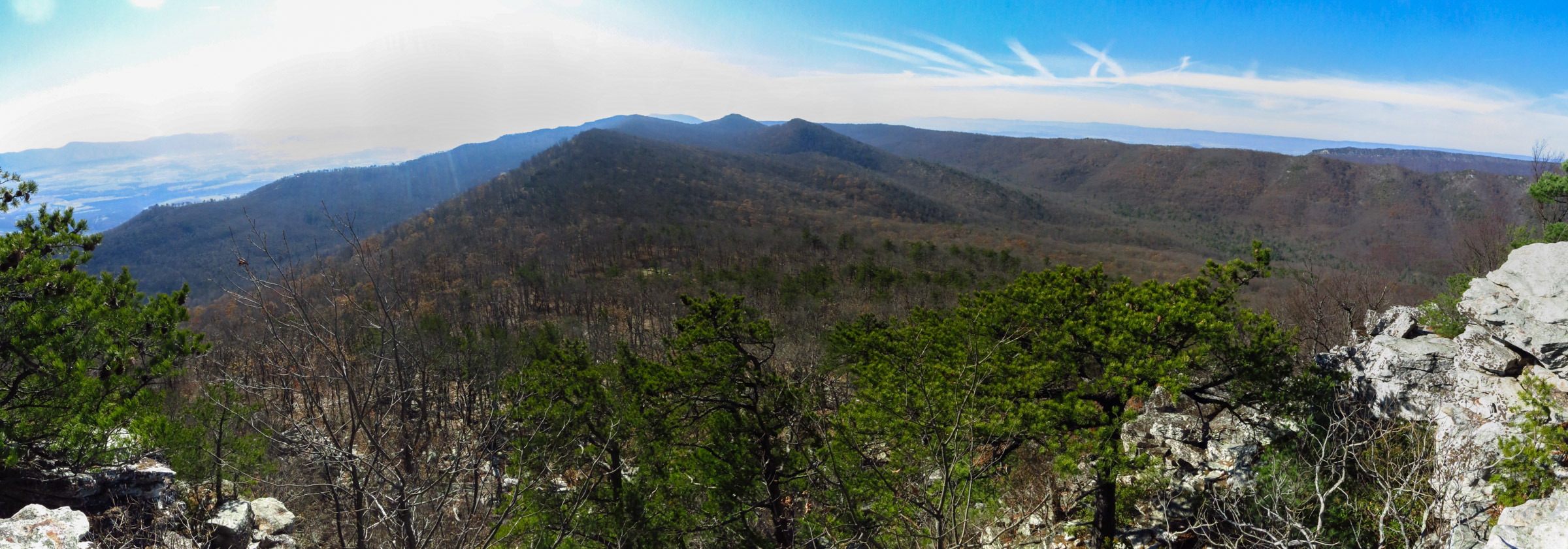 The sweeping view to the south from Duncan Knob